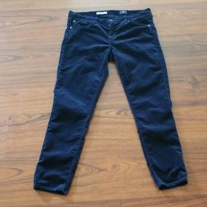 AG Adriano Goldschmied velvet skinny pants size 31